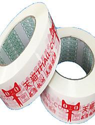 large 4.5cm * avertissements de bande ruban d'emballage de 2.5cm d'étanchéité viscosité lynx bande bande de marquage
