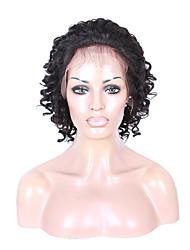 vente chaude peruvian avant de dentelle perruques de cheveux humains en vrac profondes dentelle vague perruques front de perruques de