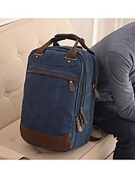 Men Backpack Canvas Sports Outdoor Coffee Blue Khaki Royal Blue