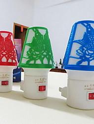 LED Night Light Plug Button Switch Energy Saving Lamp Shape Night Light
