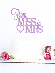 1 PC Cake Toppers MultiColor Miss To Mrs