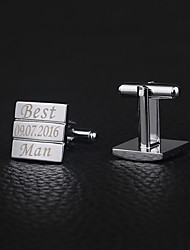 Gift Groomsman Personalized Square Cufflinks
