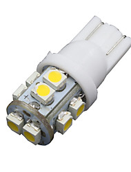 10PCS Warm White Car 360°T10 Wedge 10-SMD Dome Map Door Interior LED Light Bulbs