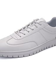 Da uomo-Sneakers-Casual / Sportivo-Comoda-Piatto-PU (Poliuretano)-Nero / Bianco