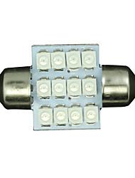 10 x 31mm bleu 12SMD feston dôme carte intérieur à LED Lampe de3175 3022 3021