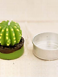 1Pcs  Cactus Plant Pot Set Candles Candle Party Christmas Wedding Decorations (Random Color)