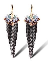 TIANSHE Women'S Europe Bohemia Tassel Earrings Earrings Alloy 1 pair