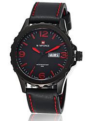 NAVIFORCE® Men's Military Watch Japanese Quartz Calendar/30M Waterproof Genuine Leather Strap Sports Wrist Watch Cool Watch Unique Watch