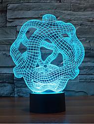 abstrato toque escurecimento 3D conduziu a luz da noite 7colorful decoração atmosfera lâmpada de iluminação novidade luz de Natal