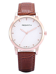 REBIRTH® Women's Simple Fashion PU Leather Strap Quartz Wrist Watch Casual Watch Dress Watch