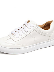 Women's Sneakers Fall Comfort PU Casual Flat Heel Others White Others