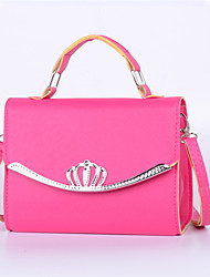 Women Casual Shopping Baguette Portable Cosmetic Bag With Diamond Crown Shoulder Bag