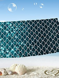 "1 PC Micro Fiber Beach Towel 55"" by 27""  Fish Scale Pattern"