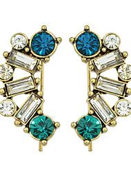 Rhinestone Fancy Long Hanging  Earrings