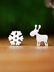 Earring Animal Shape Stud Earrings Jewelry Women Fashion Daily / Casual Sterling Silver 1 pair Silver