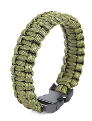 Beadia 1Pc Whistle Life-saving Bracelet Men's ParaCord Bracelet & Wristbands