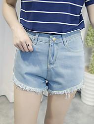 Women's Solid Blue Pants,Simple