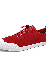 Femme-Décontracté-Noir / Bleu / Rouge-Talon Plat-Confort-Sneakers-Tissu