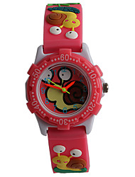 Novel Fashion 3D Silica Gel Pattern Pupil Watch