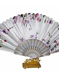 Soie Ventilateurs et parasols-1 Pièce/Set 4 Pièce/Set Pièce / Set EventailThème de plage Thème de jardin Thème floral Thème de papillon