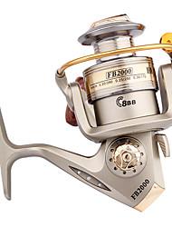 Molinetes Rotativos 5.2:1 10 Rolamentos Trocável Pesca de Mar / Rotação / Pesca de Água Doce / Pesca Geral-FB2000 #