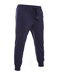 Men's Solid Casual / Sport Sweatpants,Cotton Black / Blue
