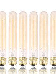 GMY 6Pcs T30 Edison Bulb Vintage bulb 60W E26/E27 Decorate Bulb 185mm