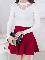 signer de nouveaux poitrine creuse korean tricot lourd shirt femme