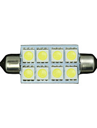 10 X PURE White 42MM 5050 Festoon Dome Map Interior LED Light bulb 211-2 578 569