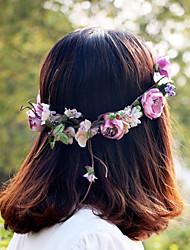 фиолетовый красивый розовый цветок венки оголовье для леди свадьба партии ювелирные изделия праздник волос