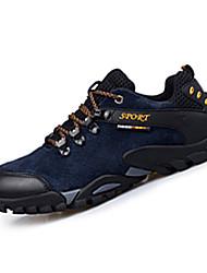 Черный / Синий / Желтый / Серый-Мужской-Для занятий спортом-Замша-На плоской подошве-Удобная обувь-Кеды