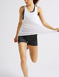 Deportes Mujer Transpirable Running Tops Blanco