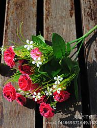 1 1 Ramo Poliéster Cravo Flor de Mesa Flores artificiais 30cm