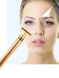 Face Lift Tightening Firming 24K Gold Face Skin Massage Roller Body Eye Massager Electric Vibrator Health Beauty