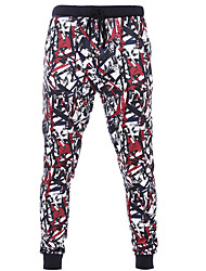 Women's Print Red Chinos / Sweatpants / Skinny Pants,Active Fall / Winter