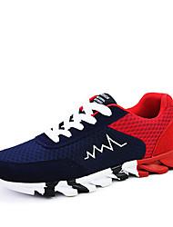 Men's Sneakers Spring / Fall Comfort Tulle Casual Flat Heel  Black / Blue / Gray Walking