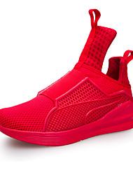 Femme-Sport-Noir / Bleu / Rouge / Blanc-Talon Plat-Confort-Chaussures d'Athlétisme-Synthétique