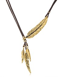Leaf Necklace Choker Necklaces Jewelry Golden Alloy Party / Daily