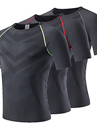 Men Quick Dry Sport Running Wear Bodybuilding Clothing Fitness Compression Tights Clothes Short Sleeve Gym T Shirt