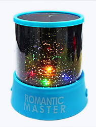 6PCS Starry Night Sky Projector Colorful LED Night Light (Random Color,Powered by 3 AA Battery)