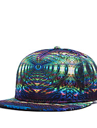 Fashion Women Men Hip Hop Street Dance 3D Dizzy Eyes Printed Adjustable Baseball Cap