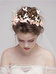 MISS DIVA Women's Tulle Headpiece Headbands 1 Piece Pink Flower 33