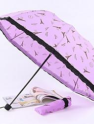 Morado Paraguas de Doblar Soleado y lluvioso textil Viaje / Lady / Hombre