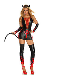 Cosplay Costumes Vampire Movie Cosplay Black Solid Leotard/Onesie / Headpiece / Gloves / Leg Warmers Halloween / Christmas / New Year