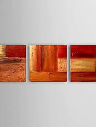 Ready To Hang Oil Painting Modern Abstract Set of 3 Hand Painted Canvas with Stretched Framed