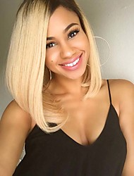perruque synthétique courte ombre cheveux raides de 1b des femmes / perruque chaleur de couleur blond cospaly résistant perruque