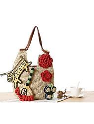 STYLE-CICI® Femme Paillette Cabas Beige-36683406978