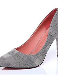 Серый-Женский-Для офиса / На каждый день / Для вечеринки / ужина-Синтетика-На шпильке-На каблуках-Обувь на каблуках