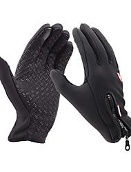 Ski-Handschuhe / Touch- Handschuhe / Fahrradhandschuhe Winterhandschuhe Alles warm halten Skifahren Schwarz  Leinwand M / L / XL