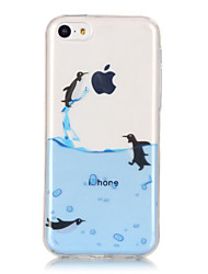 TPU Material + IMD Technology Penguin Pattern Painted Relief Phone Case for iPhone 6s Plus / 6 Plus/SE / 5s / 5/5C
